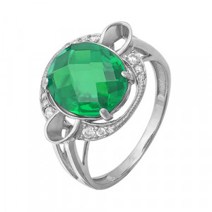 925 Sterling Silver women's ring with jewelry glass
