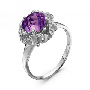 925 Sterling Silver women's ring with cubic zirconia and nano grenades
