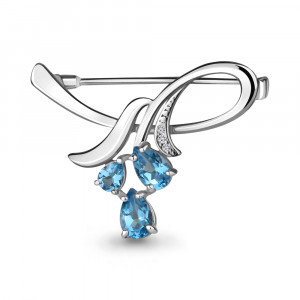 925 Sterling Silver brooches with  and cubic zirconia