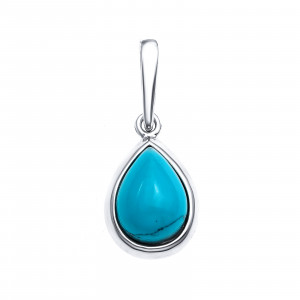 925 Sterling Silver pendants with synthetic turquoise and turquoise
