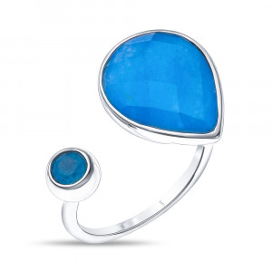 925 Sterling Silver women's rings with chalcedony