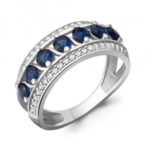 925 Sterling Silver women's rings with nano sapphire