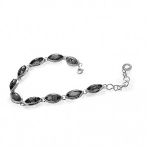 925 Sterling Silver bracelets with charoite