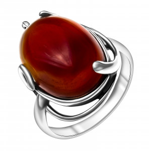 925 Sterling Silver women's rings with chrysoprase and synthetic carnelian