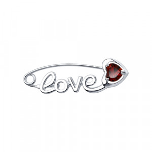 925 Sterling Silver brooches with garnet