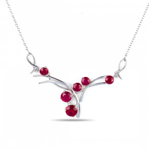 925 Sterling Silver necklaces with rubin and