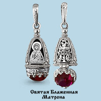925 Sterling Silver amulets with corundum and cubic zirconia
