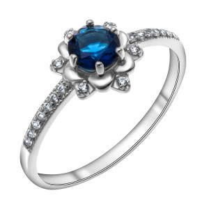 925 Sterling Silver women's rings with synthetic quartz