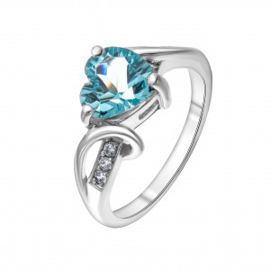 925 Sterling Silver women's rings with topaz gt and cubic zirconia