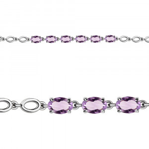 925 Sterling Silver bracelets with amethyst