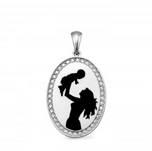 925 Sterling Silver pendants with cubic zirconia swarovski and enamel