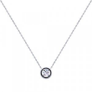 925 Sterling Silver necklaces with cubic zirconia and enamel