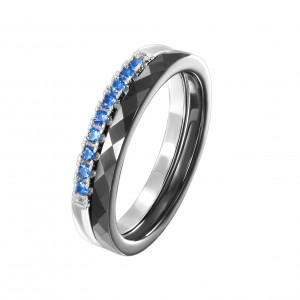 925 Sterling Silver women's rings with ceramics