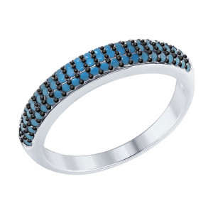 925 Sterling Silver women's rings with sitall and nano sitall