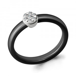 925 Sterling Silver women's rings with ceramics and cubic zirconia