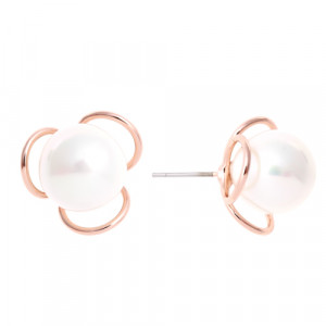Bijuterii Alloy pair earrings with pearl