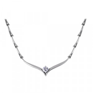 925 Sterling Silver necklaces with cubic zirconia