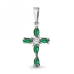 925 Sterling Silver pendants with glass and cubic zirconia