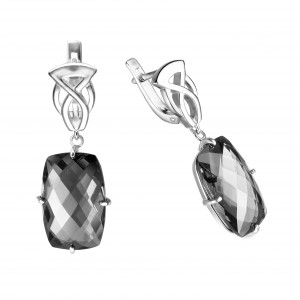 925 Sterling Silver pair earrings with topaz london gt and topaz gt