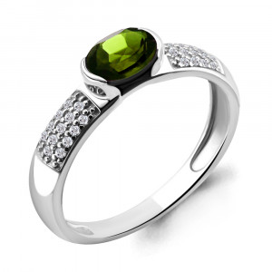 925 Sterling Silver women's rings with chrysolite