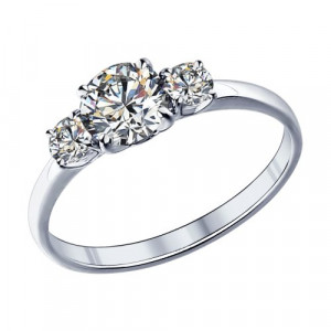 925 Sterling Silver women's rings with swarovski and cubic zirconia