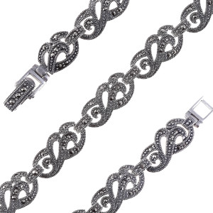 925 Sterling Silver bracelets with marcasite
