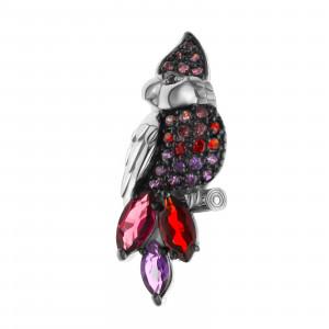 925 Sterling Silver brooches with garnet and amethyst