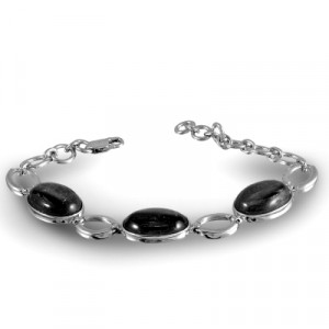 925 Sterling Silver bracelets with obsidian and agate