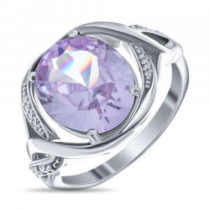 925 Sterling Silver women's ring with alpana