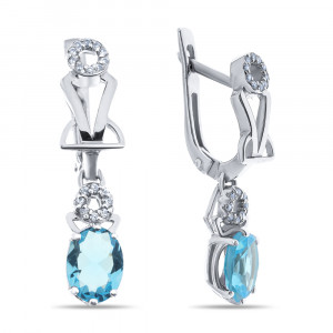 925 Sterling Silver pair earrings with alpana