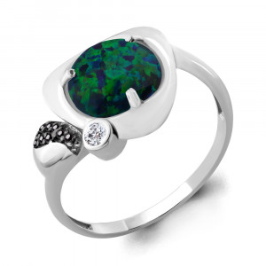 925 Sterling Silver women's rings with cubic zirconia and nano crystal