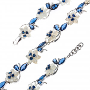 925 Sterling Silver bracelets with mother of pearl
