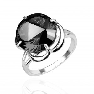 925 Sterling Silver women's rings with quartz pl. tourmaline