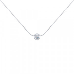 925 Sterling Silver necklaces with cubic zirconia swarovski and cubic zirconia