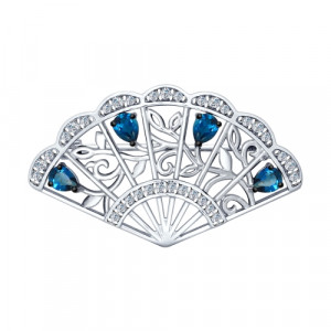 925 Sterling Silver brooches with topaz and london topaz