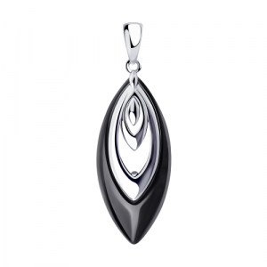 925 Sterling Silver pendants with ceramics