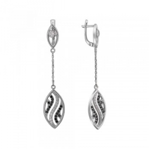 925 Sterling Silver pair earrings with spinel