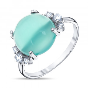925 Sterling Silver women's rings with quartz mix and quartz agate