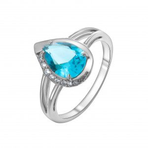 925 Sterling Silver women's rings with  and crystal