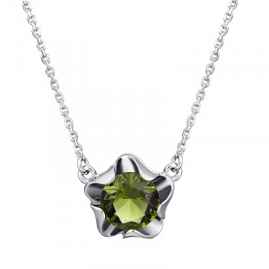 925 Sterling Silver necklaces with jewelry glass