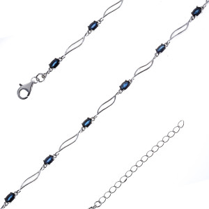 925 Sterling Silver bracelets with sapphire