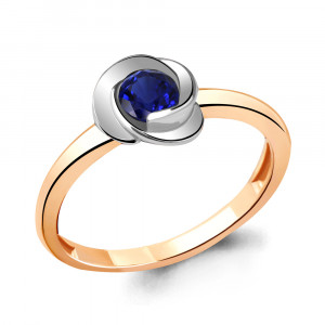 925 Sterling Silver women's rings with nano sapphire and sapphire gt