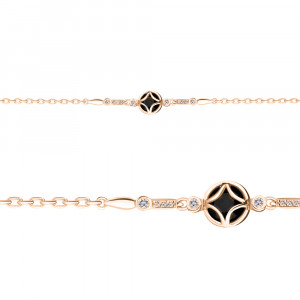 925 Sterling Silver bracelets with glass and cubic zirconia