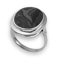 925 Sterling Silver women's rings with obsidian and lapis