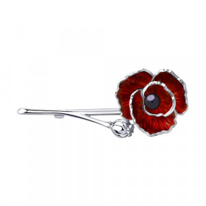 925 Sterling Silver brooches with enamel and