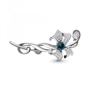 925 Sterling Silver brooches with london topaz and topaz