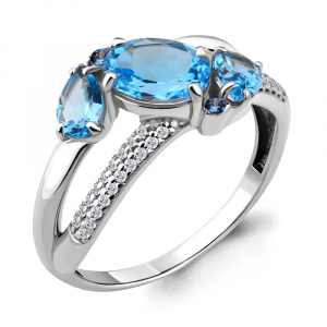 925 Sterling Silver women's rings with cubic zirconia and nano topaz