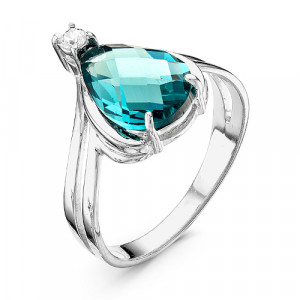 925 Sterling Silver women's rings with quartz and quartz paraíba