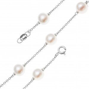 925 Sterling Silver bracelets with pearl cult.