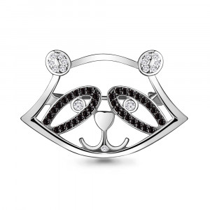 925 Sterling Silver brooches with nano crystal and cubic zirconia